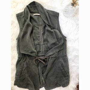 {Max Jeans}  Green Army Sleevless Vest
